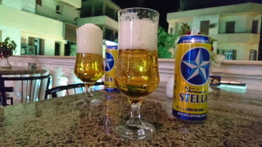 エジプトビールのステラ