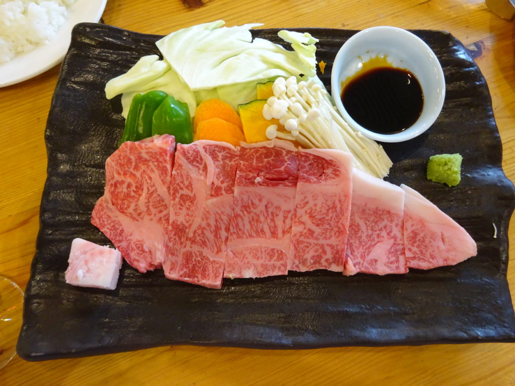 島根ワイナリーのステーキ