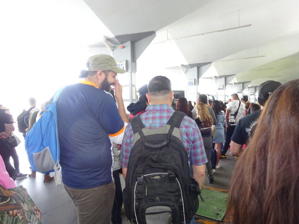 テオティワカン行きバスのターミナル