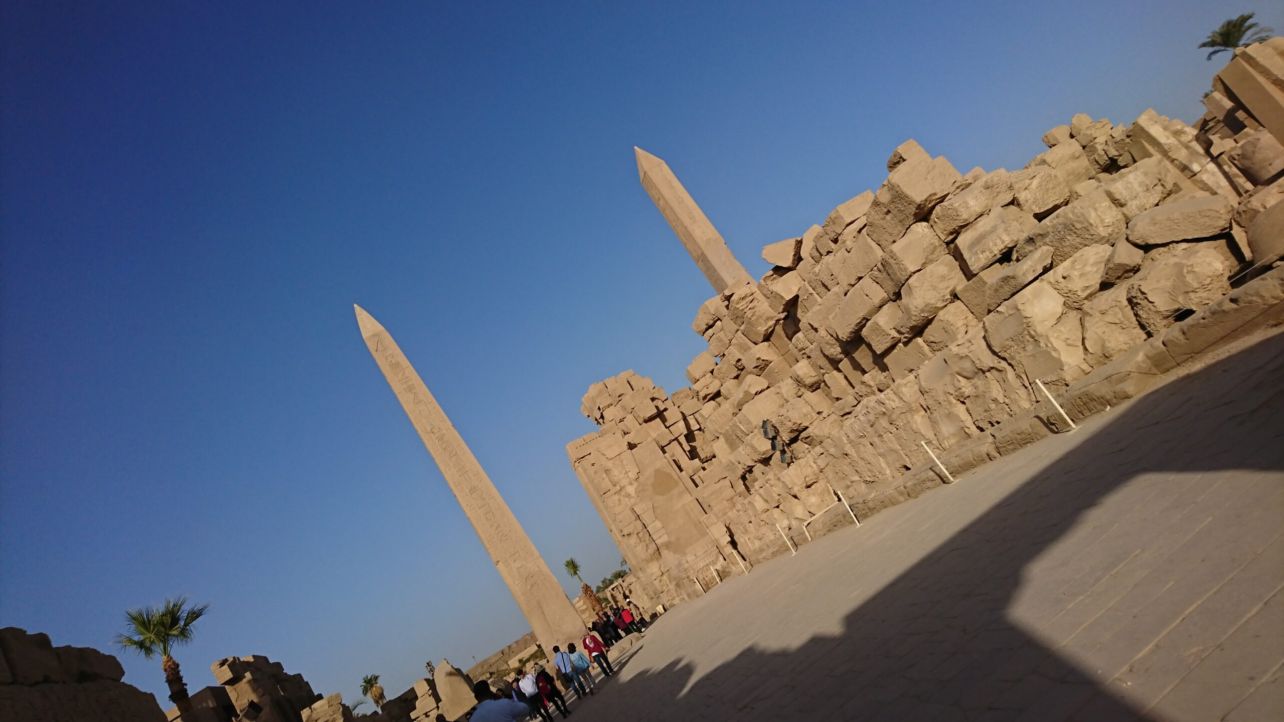 エジプトのルクソールのカルナック神殿