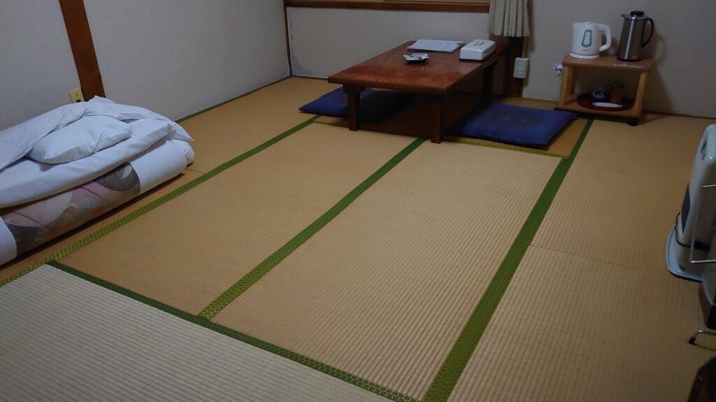 玉川温泉の宿泊部屋