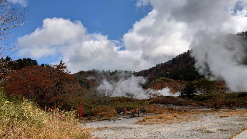 玉川温泉の隣にある八幡平国立公園岩盤浴