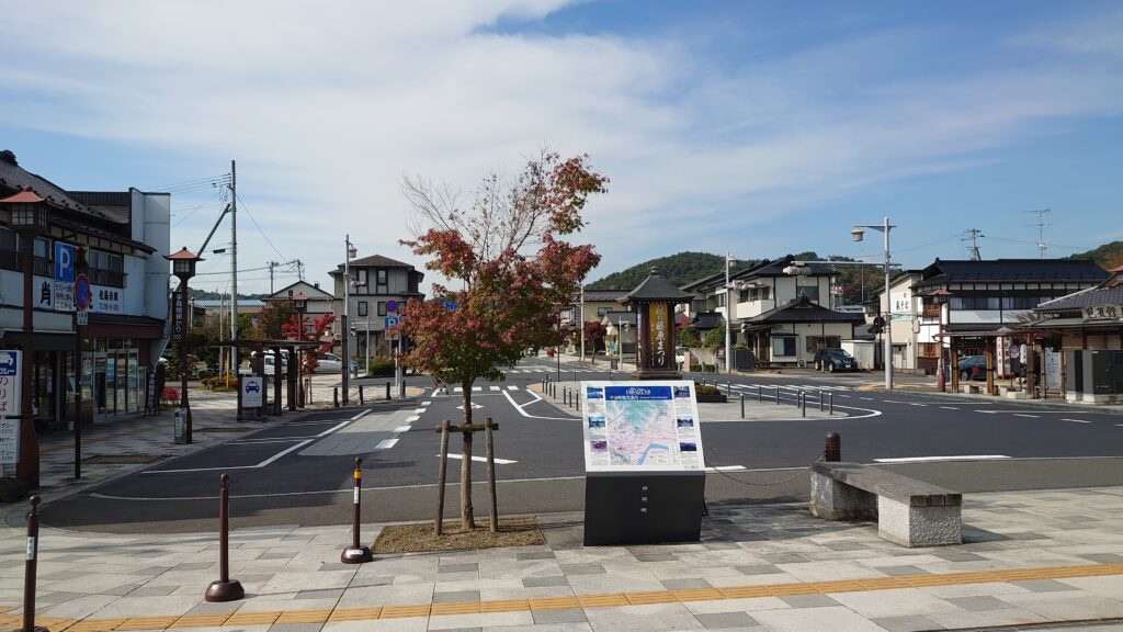 平泉駅右手のレンタサイクル