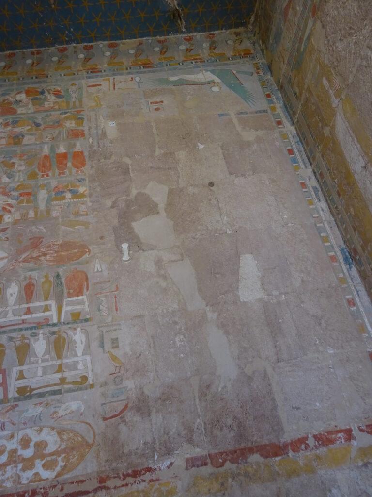ハトシェプスト女王葬祭殿の削られた壁画