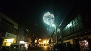 島根県大田市の温泉津温泉の花火大会夏まつり