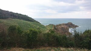 島根県益田市の唐音の蛇岩