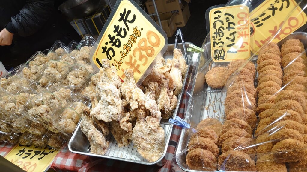 青森県八戸市の館鼻岩壁朝市の大安食堂