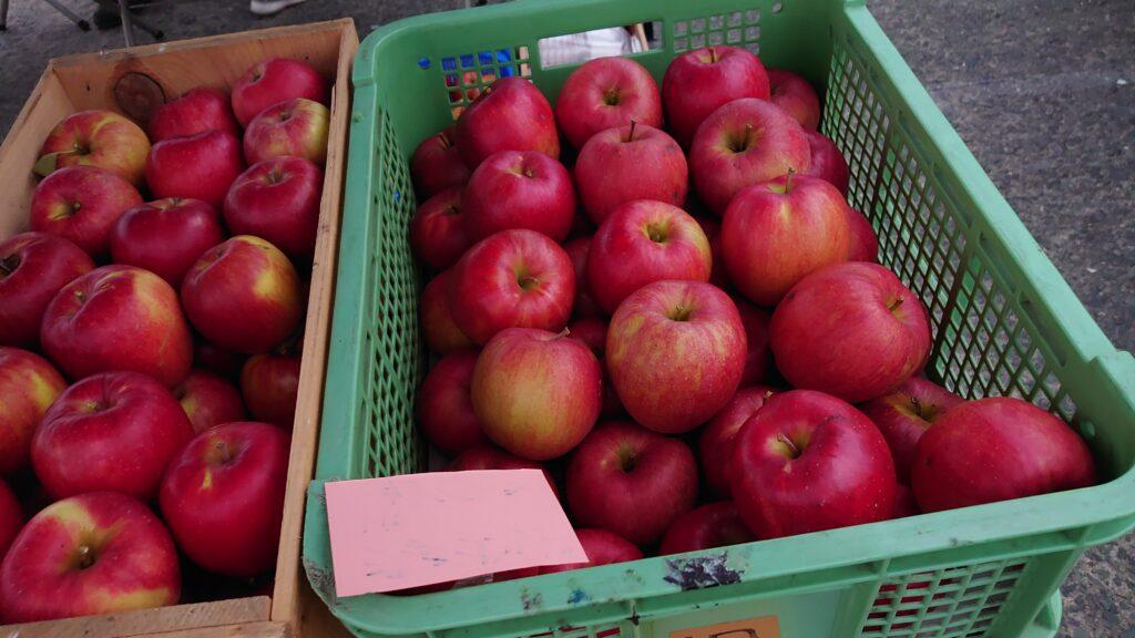 青森県八戸市の館鼻岩壁朝市の果物