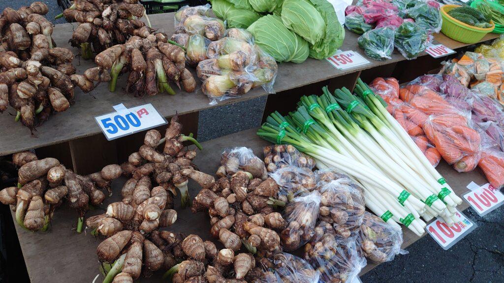 青森県八戸市の館鼻岩壁朝市の野菜